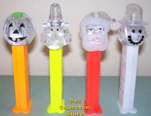 Colorless Crystal Holiday Pez Set