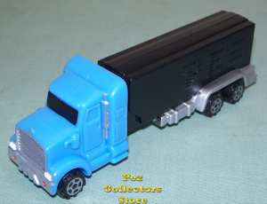 European Blue Truck with small Smoke Stacks
