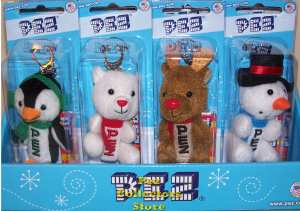Winter Plush Pez Set of 4
