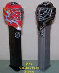 NHL Fire and Ice Hockey Goalie Helmet Pez