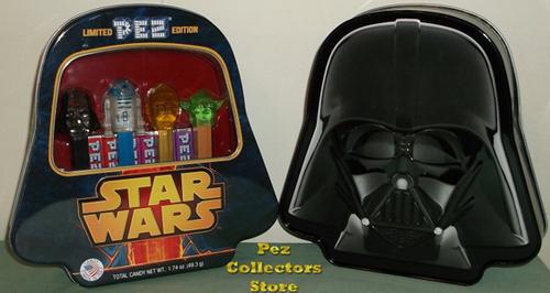 Crystal Star Wars Pez in Darth Vader Tin
