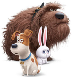 Duke, Max and Snowball from Secret Life of Pets Movie