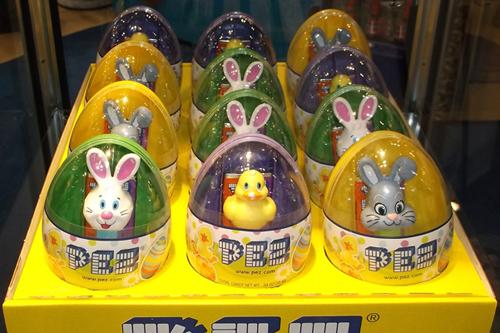 Easter mini pez in Eggs