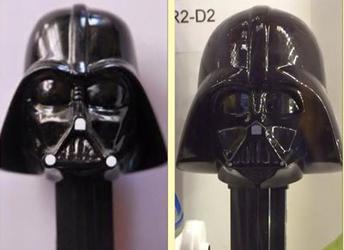 Original Darth Vader on left, Revised Darth Vader on right