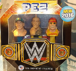 WWE Boxed Set on Display at Sweets and Snacks Expo