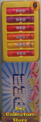 6 pack Pez Flavored Lip Balm in Tin