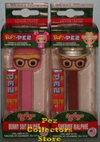 A Christmas Story Ralphie in Bunny Suit and Sheriff POP! PEZ Bundle