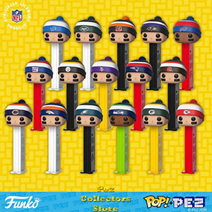 NFL team Beanies POP! PEZ Bundle
