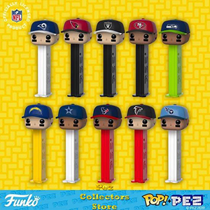 NFL Caps POP! PEZ Bundle