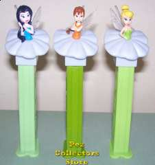 Original European Fairies Silvermist, Fawn and Tinkerbelle Pez