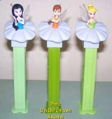 Original European Fairies Silvermist, Fawn and Tinkerbelle Pez
