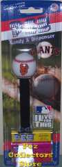 2010 San Francisco Giants SF Logo Pez Mint on Card