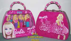 Barbie Pez in Purse Tin