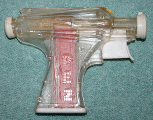 Colorless clear Crystal Space Gun Pez