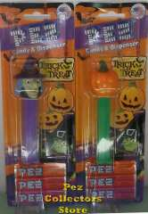 2014 Halloween Pez Pumpkin on green stem