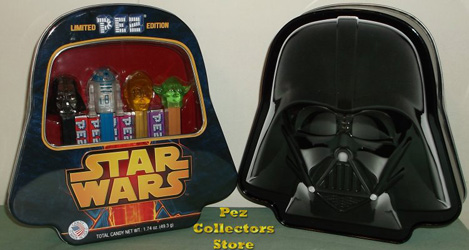 Crystal Star Wars Limited Edition Pez in Darth Vader Tin