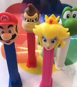 European Nintendo Pez with Donkey Kong and Princess Peach