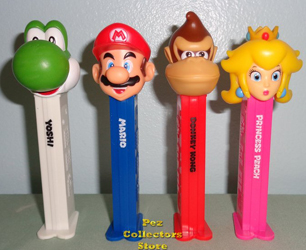 Super Mario Pez with Printed Stems Loose