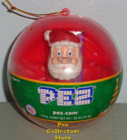 Red Ornament with mini Santa Pez