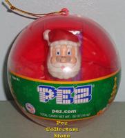 Red Ornament with mini Santa Pez