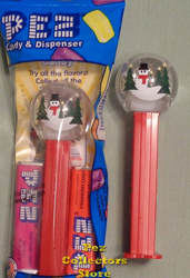 Snow Globe Pez mint in bag