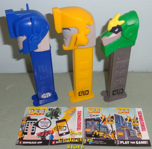 European Transformers Pez with Play Codes