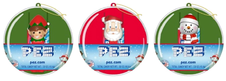 Christmas Ornaments with mini Pez