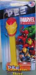 Iron Man Marvel Pez on short card