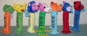 Set of 7 plush pez 10 inch or 14 inch