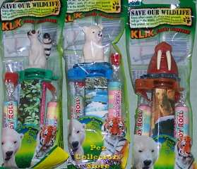 New Wildlife Klik Candy Dispenser Set