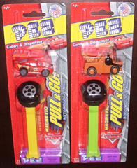Disney Cars Detachable Pull & Go Pez