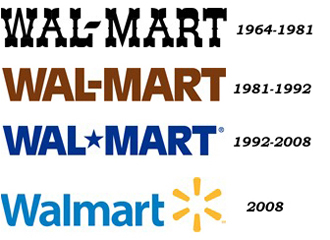 Walmart logos and timelines