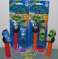 Hot Wheels Pull and Go Pez Fast Fish and Twinduction cars