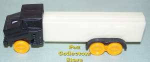 Joe's Truck Pez Black Cab, Orange Wheels, White Trailer