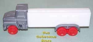 Joe's Truck Pez Silver Cab, red wheels, Glow in the Dark Trailer