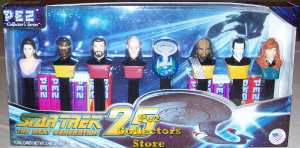 Star Trek TNG 25th Anniversary Pez Set