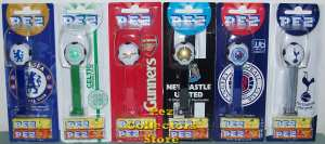 UK Football Club Soccer Ball Pez set of 6 Mint on Card