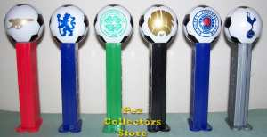 UK Football Club Soccer Ball Pez set of 6 Loose