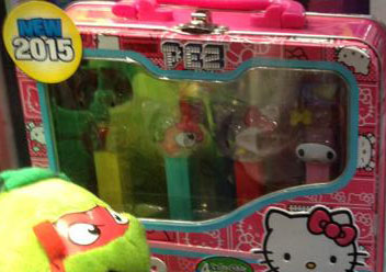 Hello Kitty Pez Patchwork Counter Display box