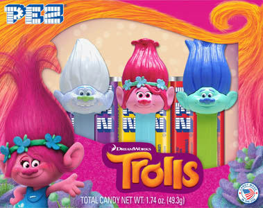 Poppy, Guy Diamond and Branch Trolls Pez Tri-Pack